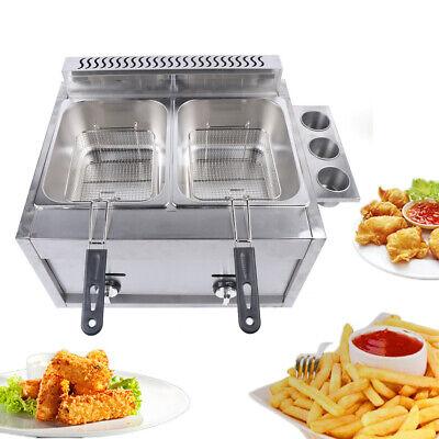 6l2 Commercial Gas Fryer Oil Fried Machine Chicken Potato Countertop Fryer