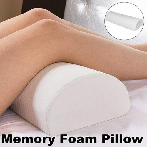 Leg Pillow Memory Foam Half-moon Pillow Elevating Bolster Comfy for Side Sleeper
