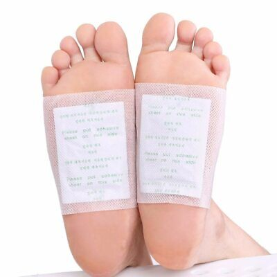 Detox Foot Pads Toxic Cleansing Patches Natural Health Care Remedy Pads 100pcs