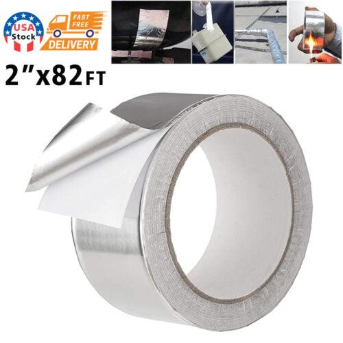 """82FTx2"""" Aluminum Foil Tape HVAC Ducts Insulation Equipment Repair Adhesive Tape"""