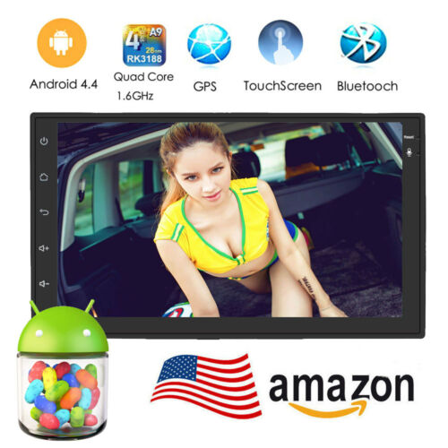 7inch Android 4 4 Double 2 Din InDash Car No DVD Radio Stereo Player WiFi 3G GPS