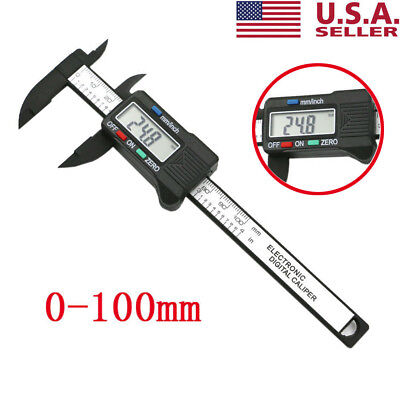 (100mm/4inch LCD Digital Electronic Carbon Fiber Vernier Caliper Gauge Micrometer)