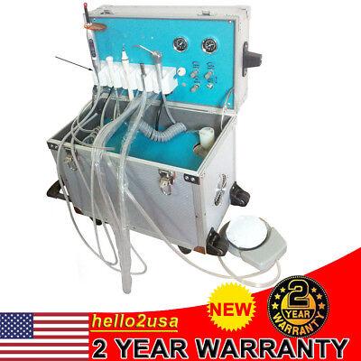 Portable Dental 2h Unitsystem Metal Mobile Delivery Rolling Caseair Compressor