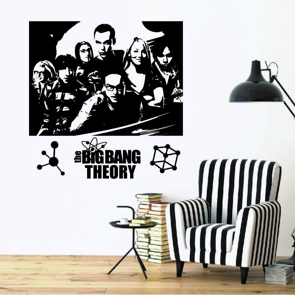 The Big Bang Theory Portrait Silhouette Wall Sticker Vinyl A
