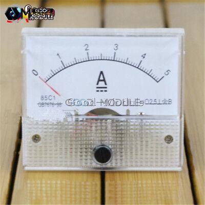 Analog Amp Current Panel Meter Dc 5a Ammeter Ampere Gauge Tester 85c1-a New