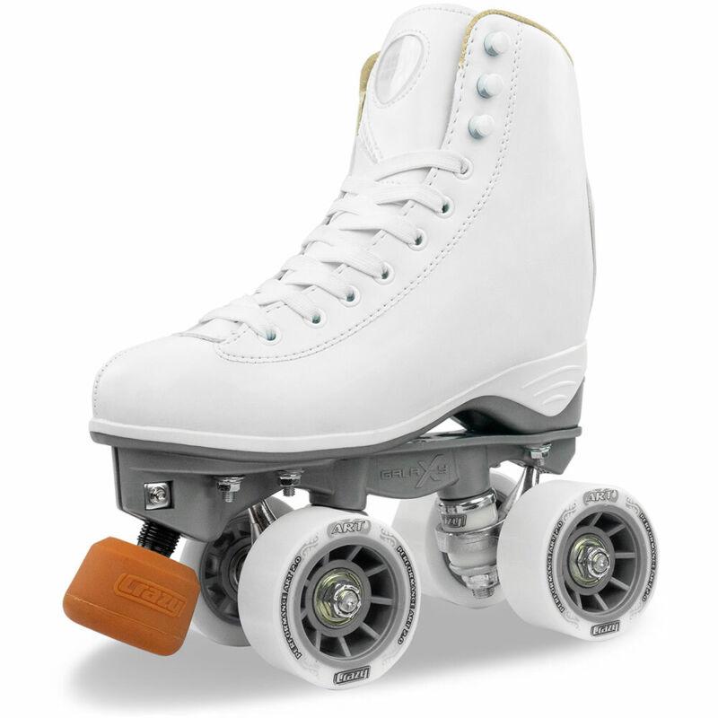 Celebrity Art Roller Skates by Crazy Skates | Artistic Figure Skating White Boot