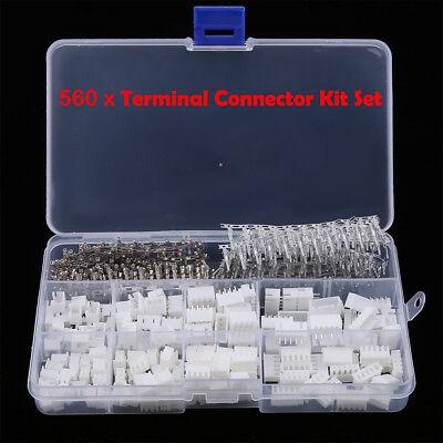 560pcs Wire Jumper 2345 Pin Header Connector Housing Kit Mf Crimp Pins New