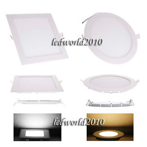 6W-9W-12W-15W-18W-21W-Dimmable-LED-Ceiling-Panel-Light-Recessed-Down-Lights-Bulb