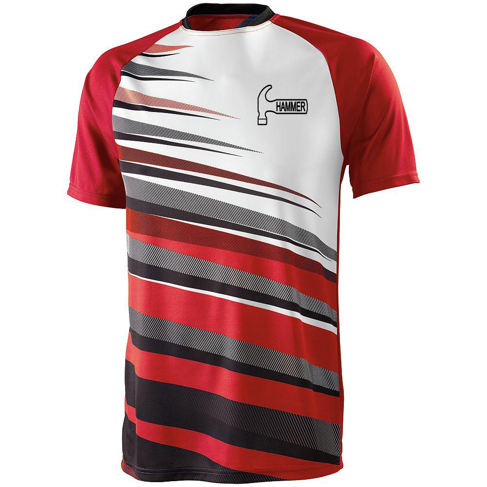 Hammer Men's Sauce Performance Jersey Bowling Shirt Dri-fit Red