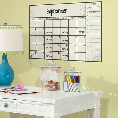 Dry Erase Board Calendar Giant Wall Decals Peel Stick Stickers Kids Decor