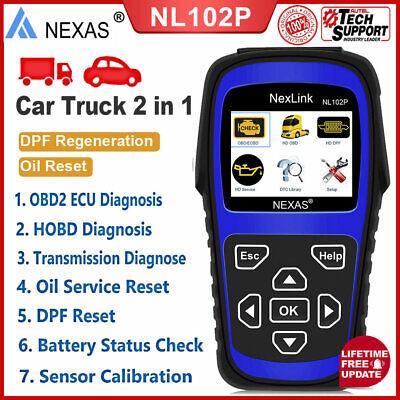 Heavy Duty NL102P Scanner  Diagnostic Diesel Gasoline Engine DPF Oil Reset Tool