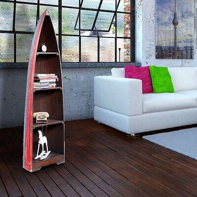 Stand Holz Regal Boots Schiff Shabby Look Exotisch Mahagoni Dekor Schrank 100cm