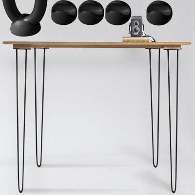 Melko® Tischkufen Stahl 4 Stück Hairpin Legs 71CM Stützfuß Tischfuß Möbelfuß