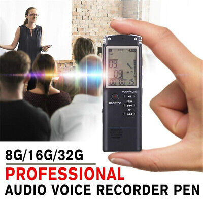 32G Voice Recorder LCD Audio-Aufnahmestift HD Diktiergerät Telefon MP3-Player DE