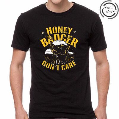 Honey Badger Dont Care Logo Mens Black T Shirt Size S M L Xl 2Xl 3Xl