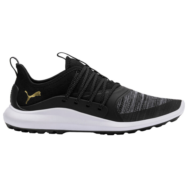 PUMA IGNITE NXT SOLELACE Spikeless Golf Shoes - Black/Team Gold