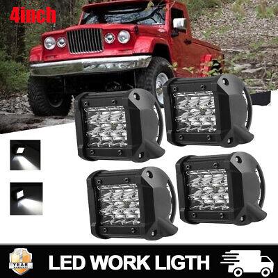 Led Light Cubes (4pcs 4inch 720W Led Work Light Bar SPOT Cube Pods Offroad Lamp Fog for SUV)