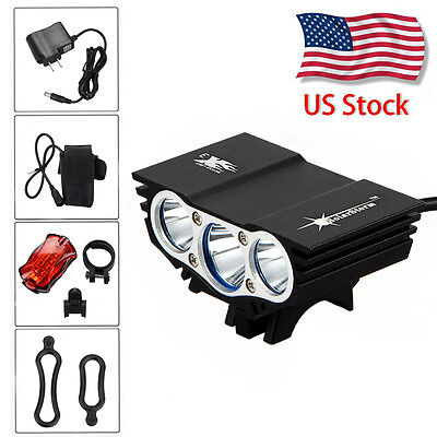 SolarStorm 7500Lumen  3x XML T6 LED Cycling Front Bicycle Bike Light HeadLight