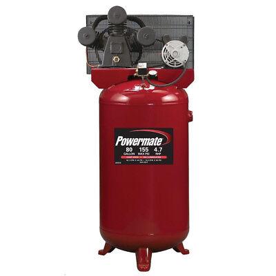 Powermate 4.7 Hp 80 Gal. Hi-flo Cast-iron Air Compressor Pla4708065 New