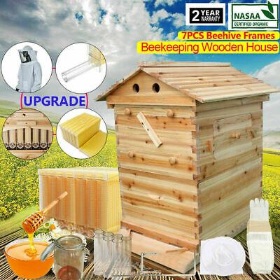 Natural Cedarwood Beekeeping Beehive House 7 Pcs Auto Run Bee Comb Hive Frames