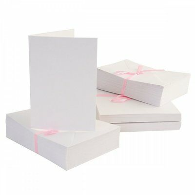 DoCrafts Anita's 100 Pack Blank Cards and Envelopes White A6 (105 x 148mm)