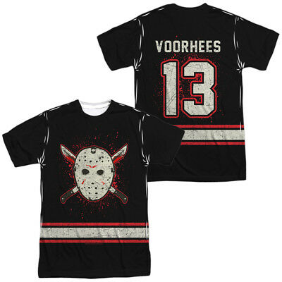 Friday the 13th Jason VOORHEES HOCKEY JERSEY 2-Sided All Over Print Poly T-Shirt