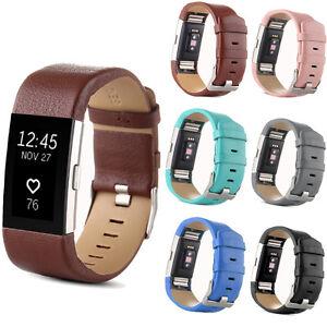 Piel-Autentica-Repuesto-Correa-Reloj-De-Pulsera-Banda-Para-Fitbit-Charge-2