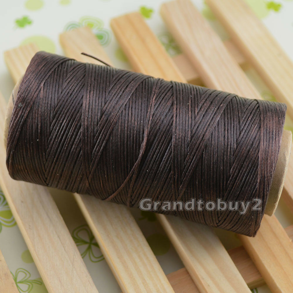284yards 19 Colors 0.8mm Sewing Leather Waxed Thread Cord Leather Craft Coffee Brown