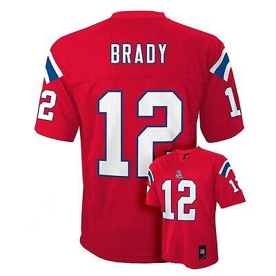 2017 2018  New England Patriots Tom Brady Nfl Jersey Youth Kids Boys  L Large