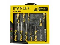 Stanley 48 Piece Screwdriver and Socket Set with Bits - New /Unopened