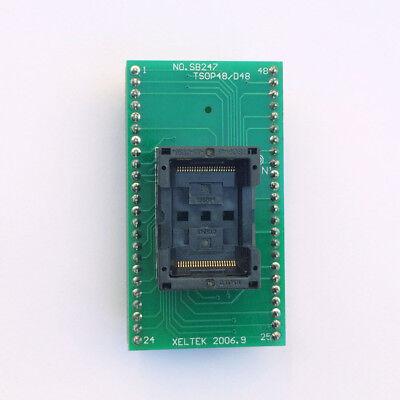 Tsop48 To Dip48 Adaptertsop48 Test Socket 0.5mm Pitch For Rt809f Xeltek