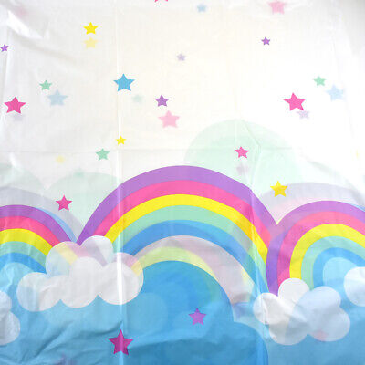 Rainbow and Clouds Table Cloth, 54-Inch x