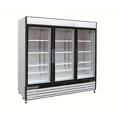Maxx Cold Mxm3-72f Triple 3 Three Door Glass Reach In Freezer Merchandiser