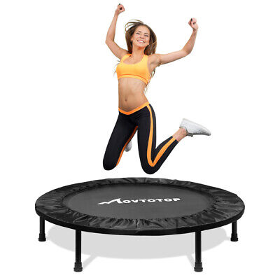 MOVTOTOP 40 Inches Safe Oxford Durable Exercise Round Aerobic Fitness Rebounder