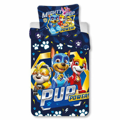 PAW Patrol - Mighty Pups Power Kinder BettwäscheSet 100% Baumwolle 140 x 200 cm