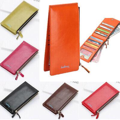 Women Leather Bifold Wallet Credit Card Holder Purse Checkbook Clutch Handbag US Credit Card Checkbook Wallet