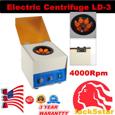 650ml Electric Benchtop Centrifuge Dental Lab Practice 4000rpm Large Capacity