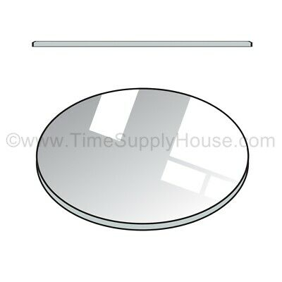NEW ROUND 2MM THICK FLAT WATCH MINERAL GLASS CRYSTAL REPLACEMENT SIZE 16MM-50MM