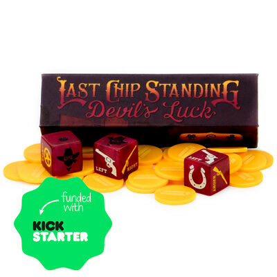 Last Chip Standing: Devil's Luck Western Themed Dice Game Set - Western Theme Games