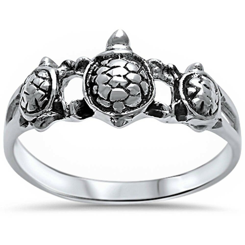 plain turtle 925 sterling silver ring sizes 5 10 ebay