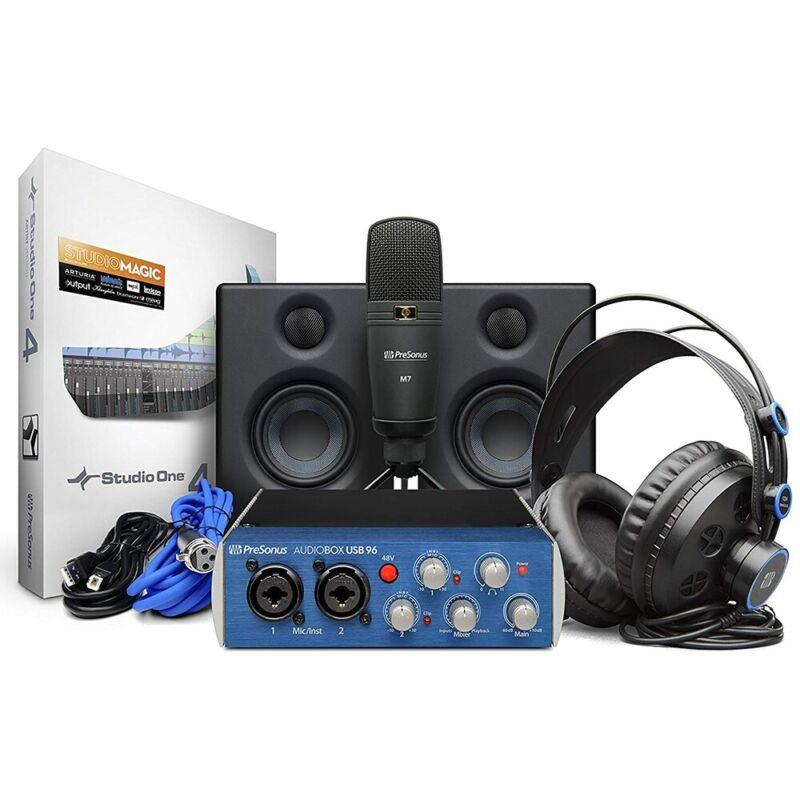 PreSonus AudioBox Studio Ultimate Bundle Complete Hardware Software Recording KT
