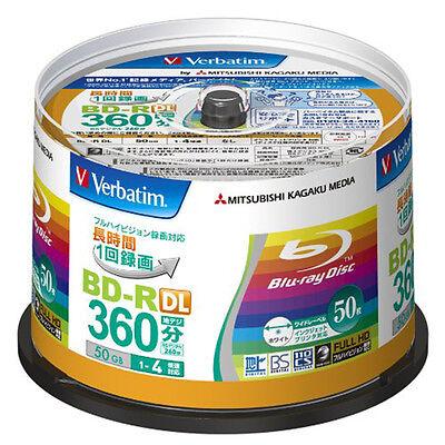 50 Verbatim Bluray Disc 50GB BD-R DL 4X Speed Made in Japan Blu-Ray Printable