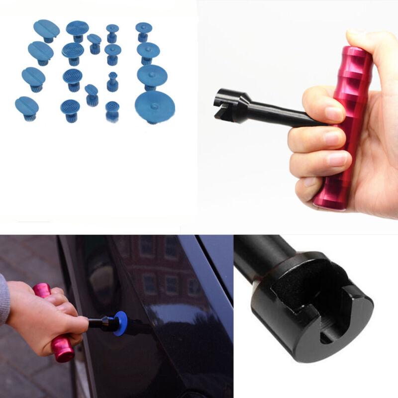 T-Bar Car Auto Body Dent Repair Tool Lifter 18Pc Puller Tab Paintless Kits