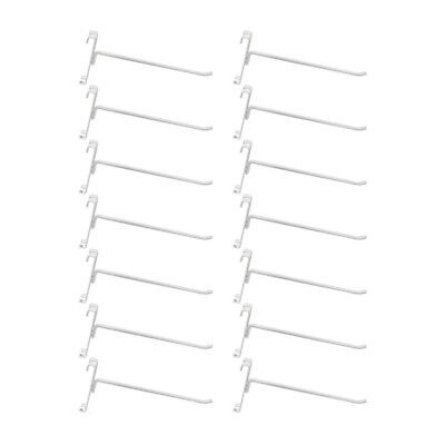 10 Pc Gloss White 8 Long Gridwall Hooks Grid Panel Display Wire Metal Hanger