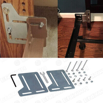 Queen Bed Headboard Attachment Bracket Bed Frame Headboard Kit Mounting -