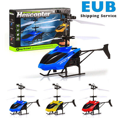 Flying Mini RC Infraed Induction Helicopter Aircraft Flashing Light Toys Kid