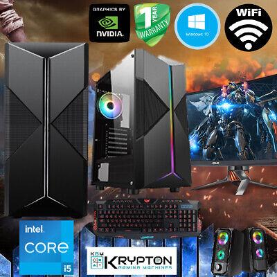 ULTRA Gaming PC Bundle Intel Core i5 16GB 128SSD+1TB Win10 GT 710...