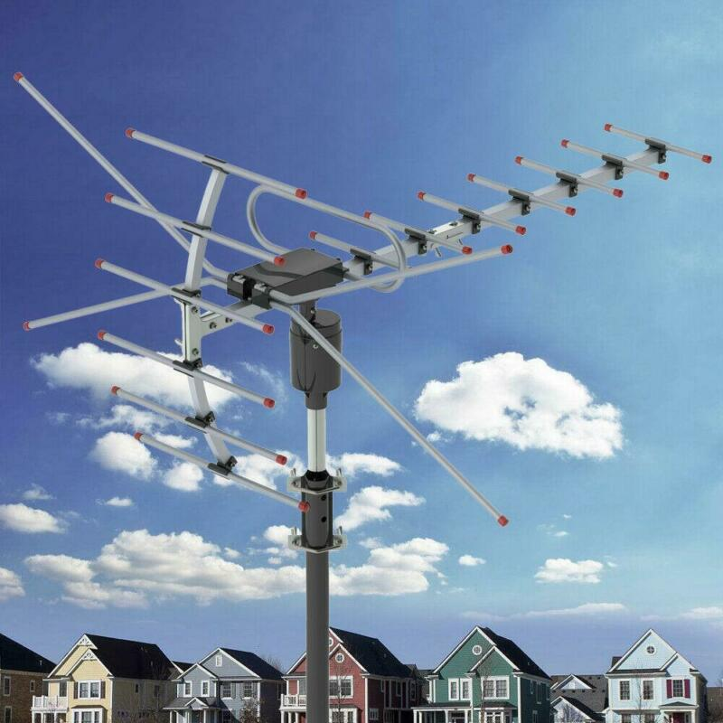 990 Miles HD 1080P Outdoor Amplified HDTV Digital TV Antenna Long Range VHF UHF