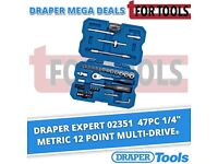 "DRAPER EXPERT 02351 47PC 1/4"" METRIC 12 POINT MULTI-DRIVE® SOCKET SET"