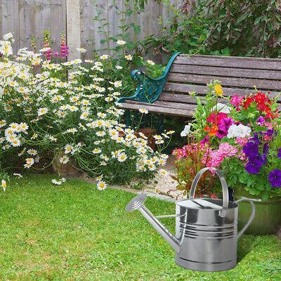 Large Watering Can w Rose 10L for Indoor Outdoor Garden Plant Galvanised Steel